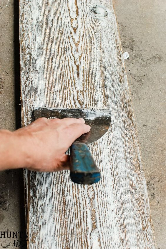 How to age new wood to look old in minutes.
