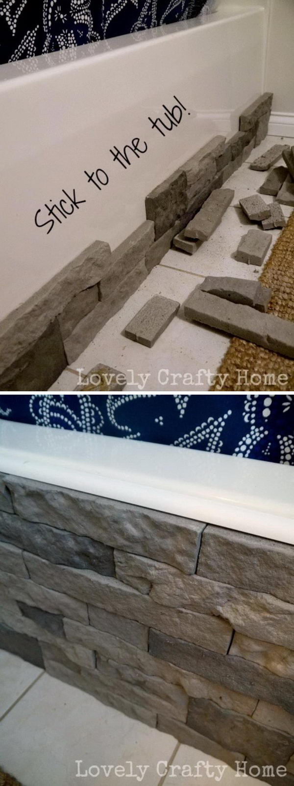 Cover An Ugly Bathtub With Faux Stone