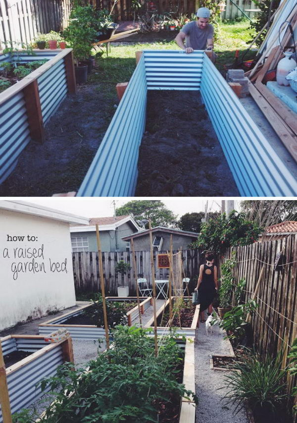 Easy Metal and Wood Garden Bed.