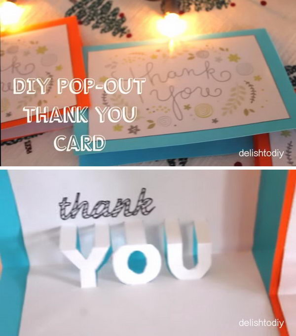 DIY Easy Pop-out Thank you Card.