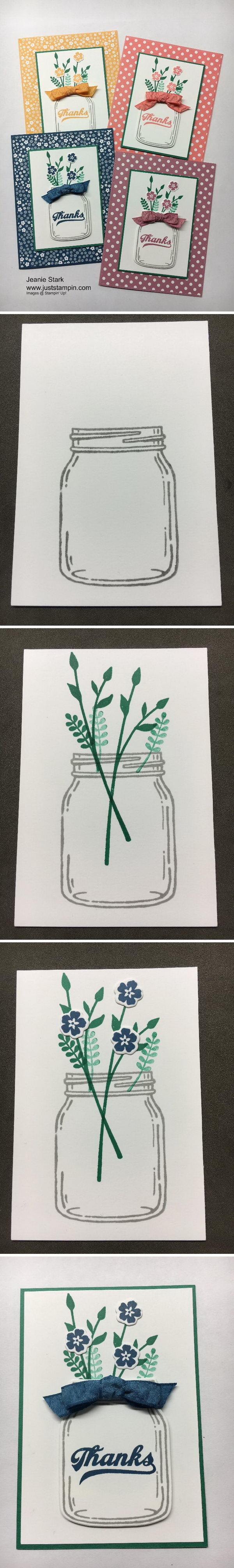 Thanks Jar of Love Card.