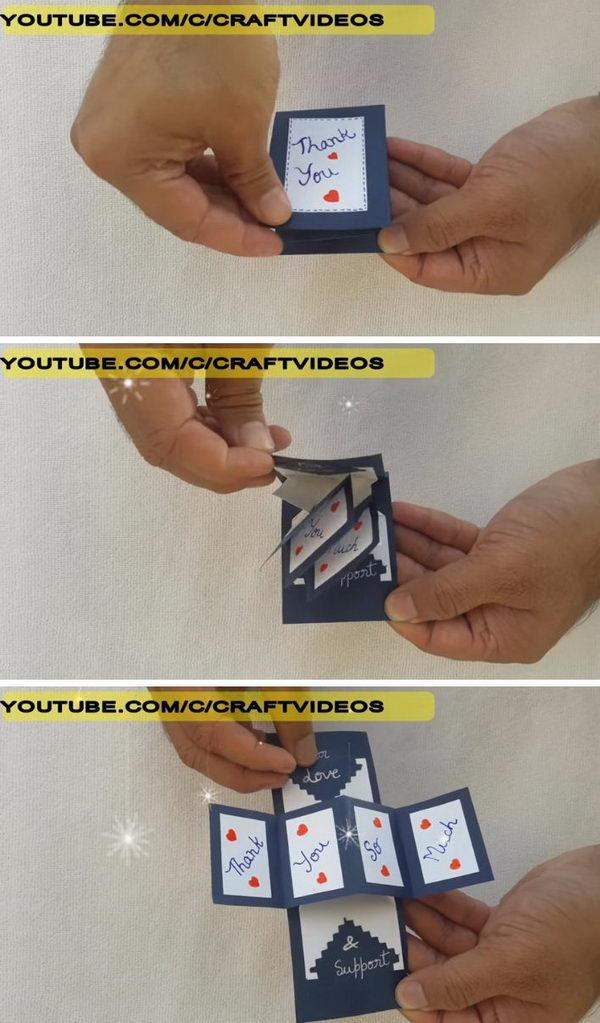 Easy DIY Thank You Card.