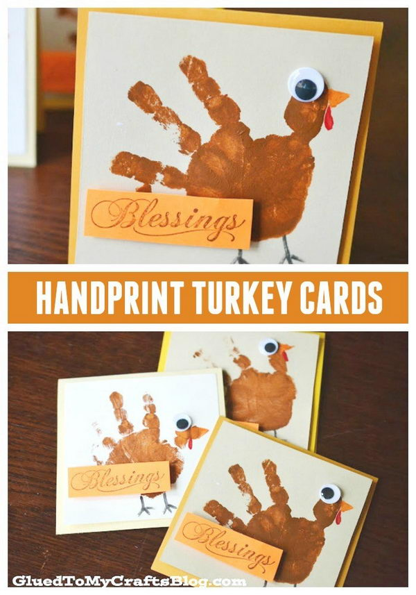 Handprint Turkey Cards.