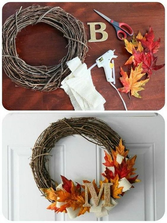 DIY Thanksgiving Wreath.