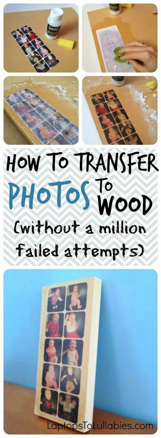 How To Transfer Photos To Wood Using Gel Medium.