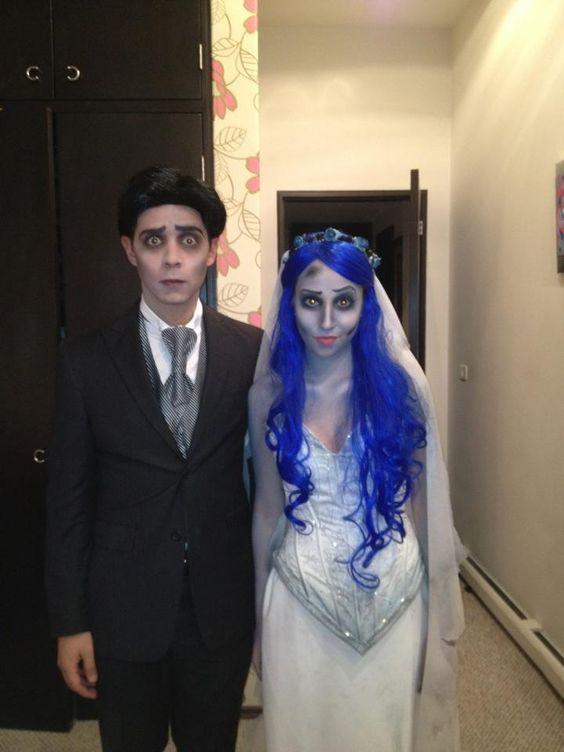 Corpse Bride Couple Costume.