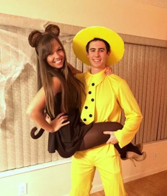 Curious George Couple Costume.