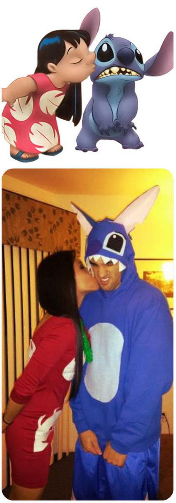 Lilo And Stitch Couple Costume.