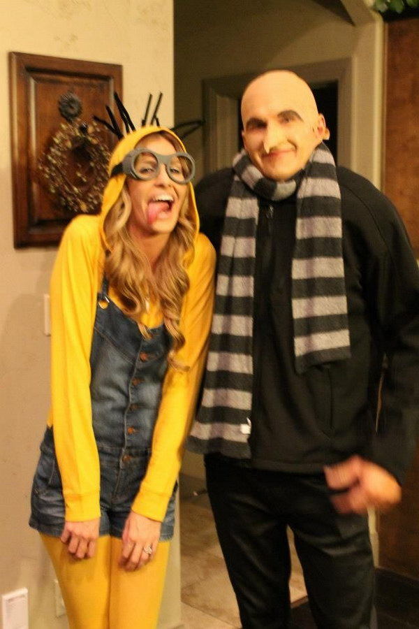 Minion and Dr. Gru--Ryan Costumes.  sc 1 st  Crafts Booming & 60+ Coupleu0027s Halloween Costume Ideas 2017