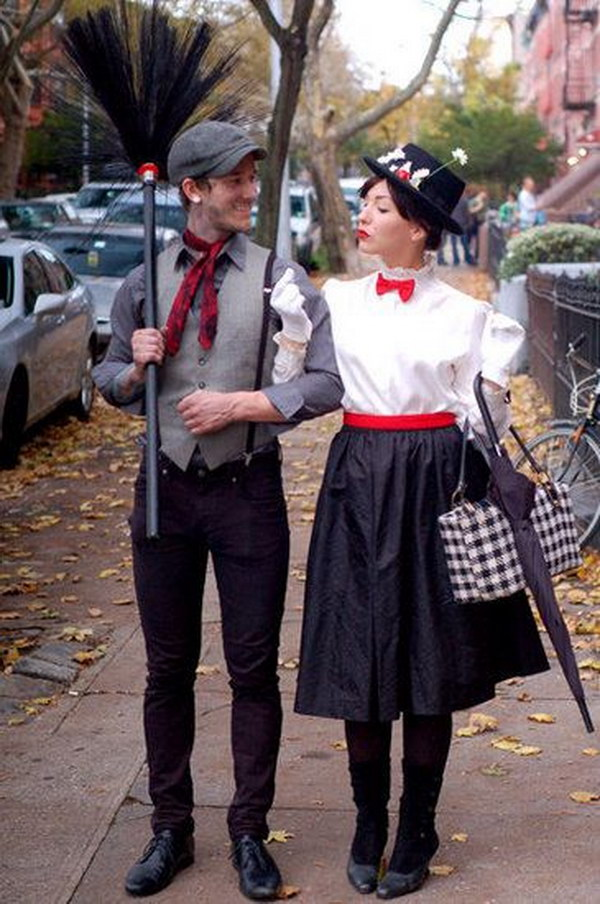 Mary Poppins Couple Costume.