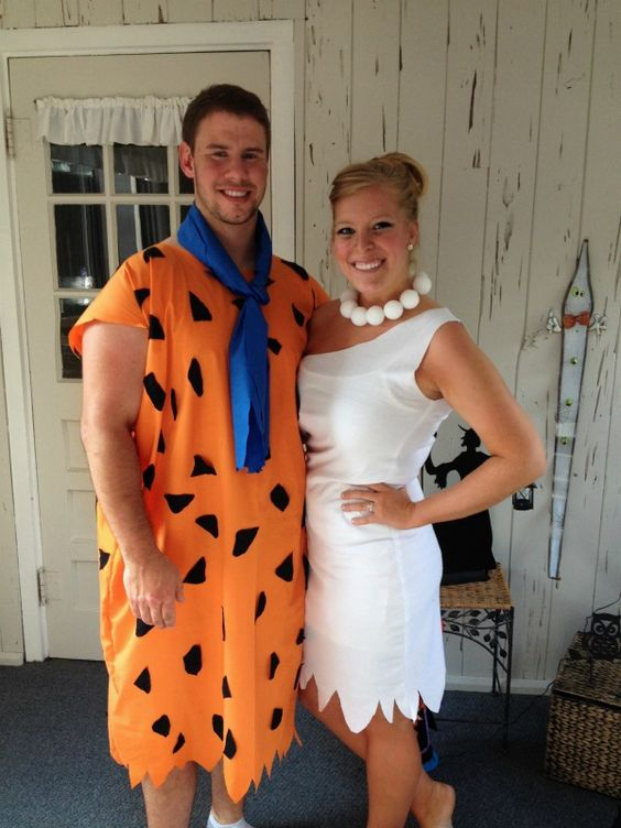 Flintstone Couple Costume.  sc 1 st  Crafts Booming & 60+ Coupleu0027s Halloween Costume Ideas 2017
