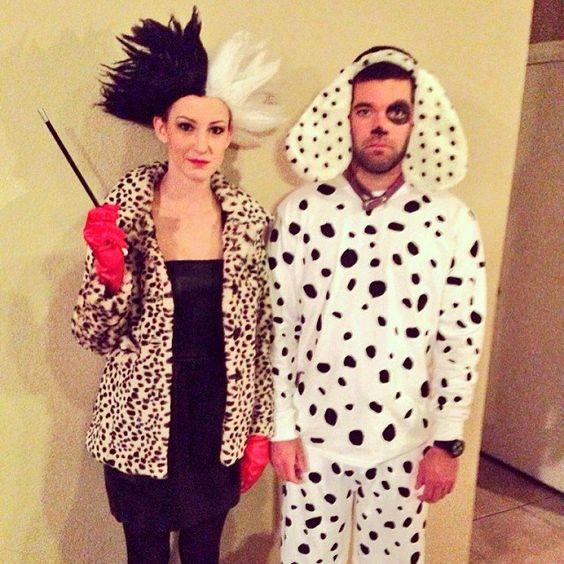 Cruella Deville Couple Costume.