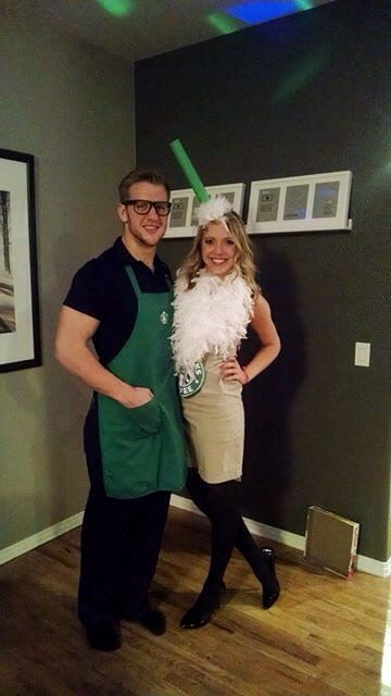 Starbucks Drink Couples Costume  sc 1 st  Crafts Booming & 60+ Coupleu0027s Halloween Costume Ideas 2017