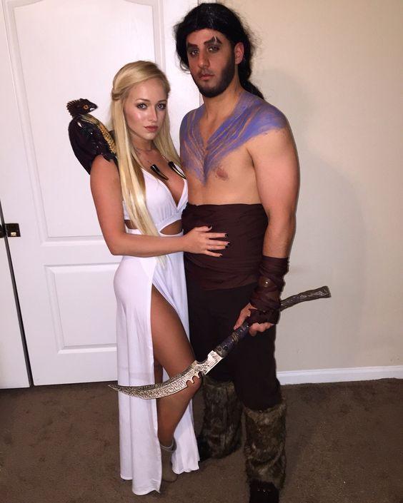 Khaleesi and Khal Drogo inspired Halloween Costume.