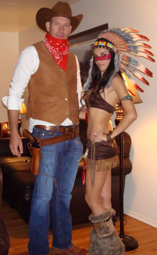 60 couples halloween costume ideas 2017 cowboy and indian couple costume solutioingenieria Choice Image