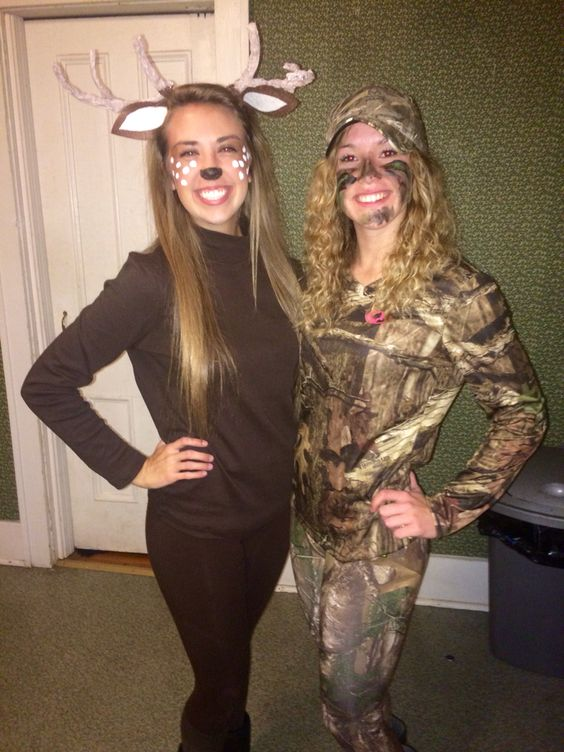 Deer And Hunter Costume.