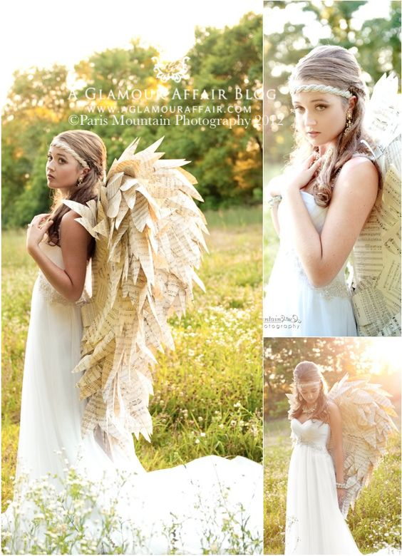 Paper Angel Wings Costume.