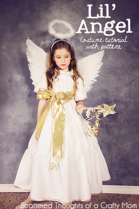 DIY Angel Costume with Tutorial and Pattern.