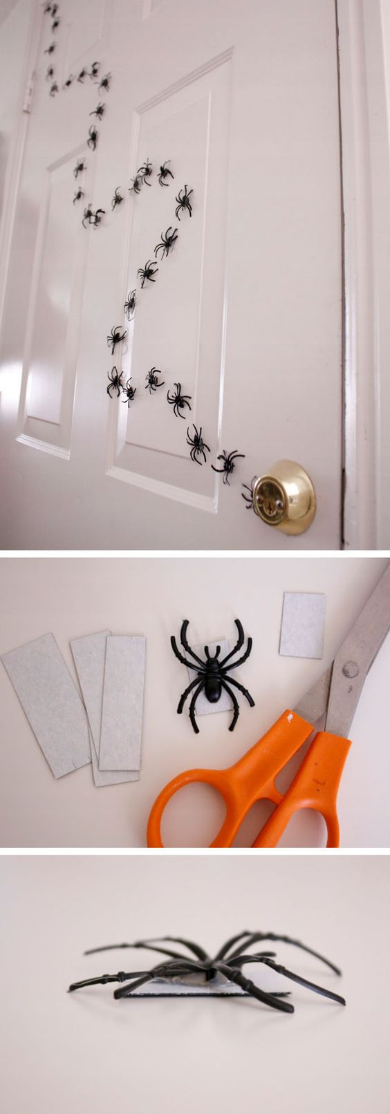 Halloween Magnetic Spiders Door Decoration.