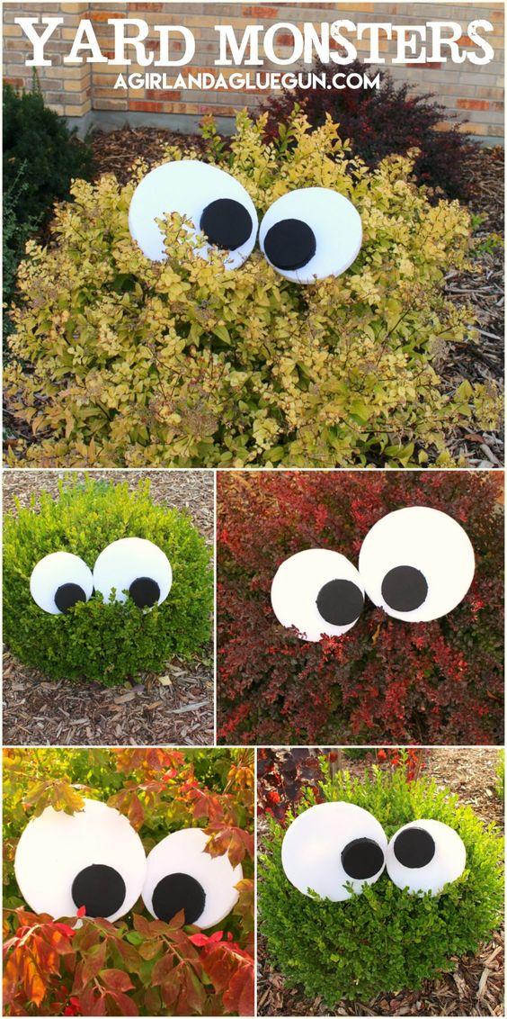 Easy DIY Yard Monsters.