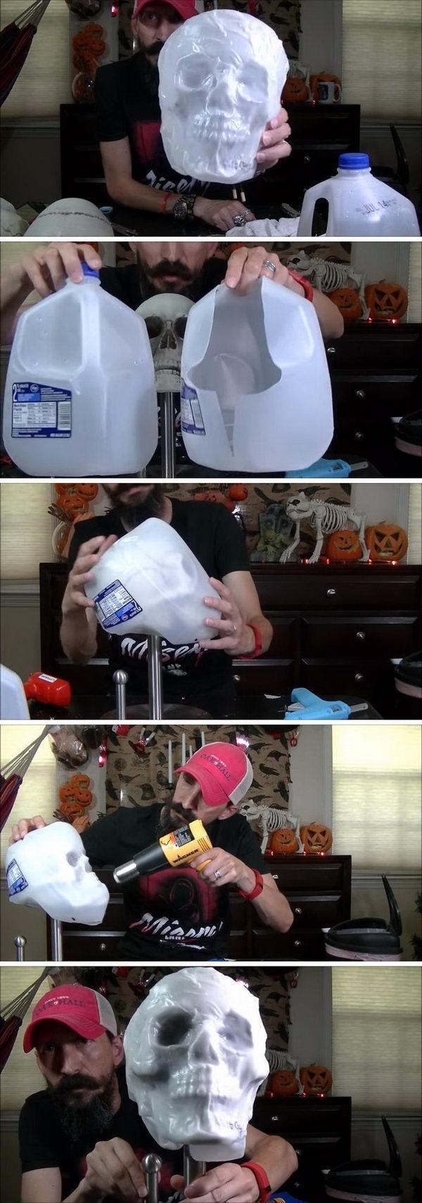 Cheap Milk Jug Skull Tutorial.