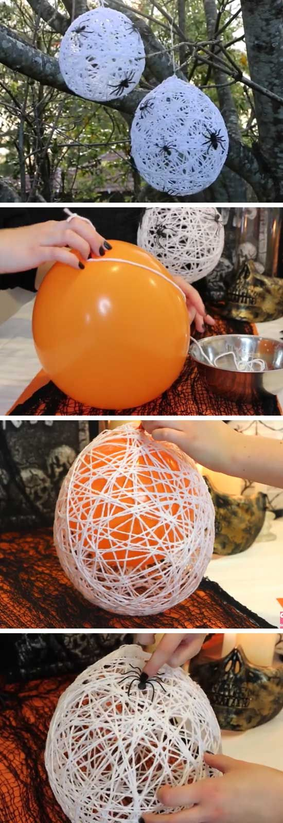 30 diy halloween decorations 2017 balloon spider web solutioingenieria Images