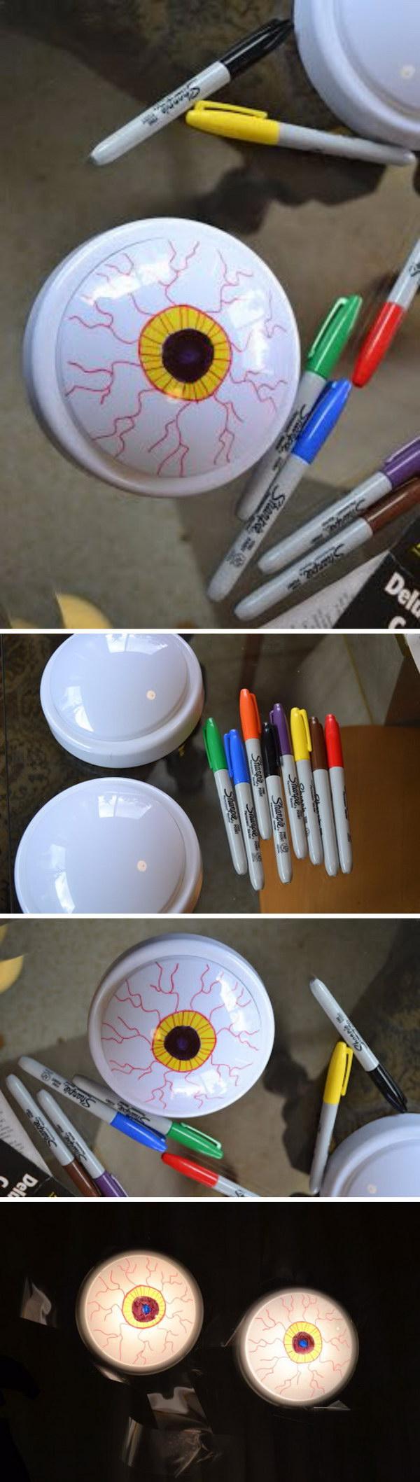 Turning Cheap Battery-Powered Lights Into Creepy Eyeballs.