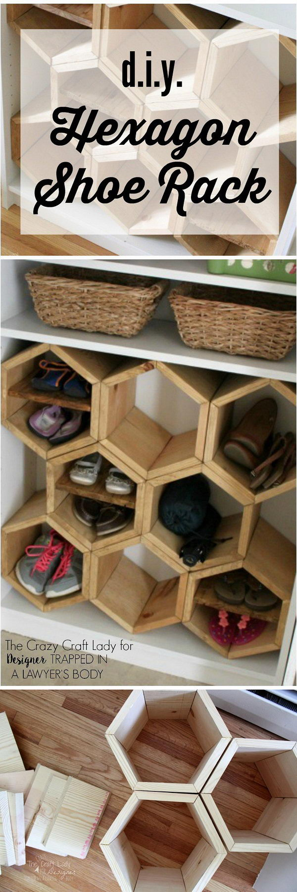 Hexagon Shoe Rack.