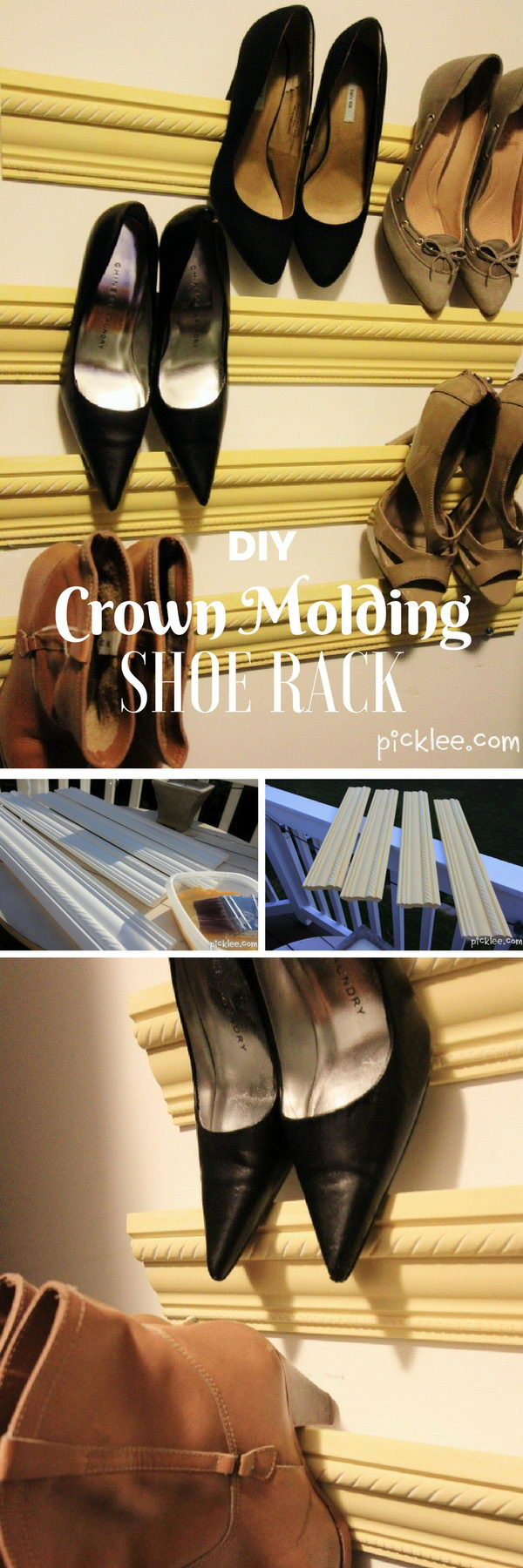 Crown Molding Shoe Rack.