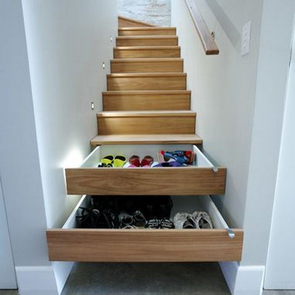 Stairs Shoe Storage.