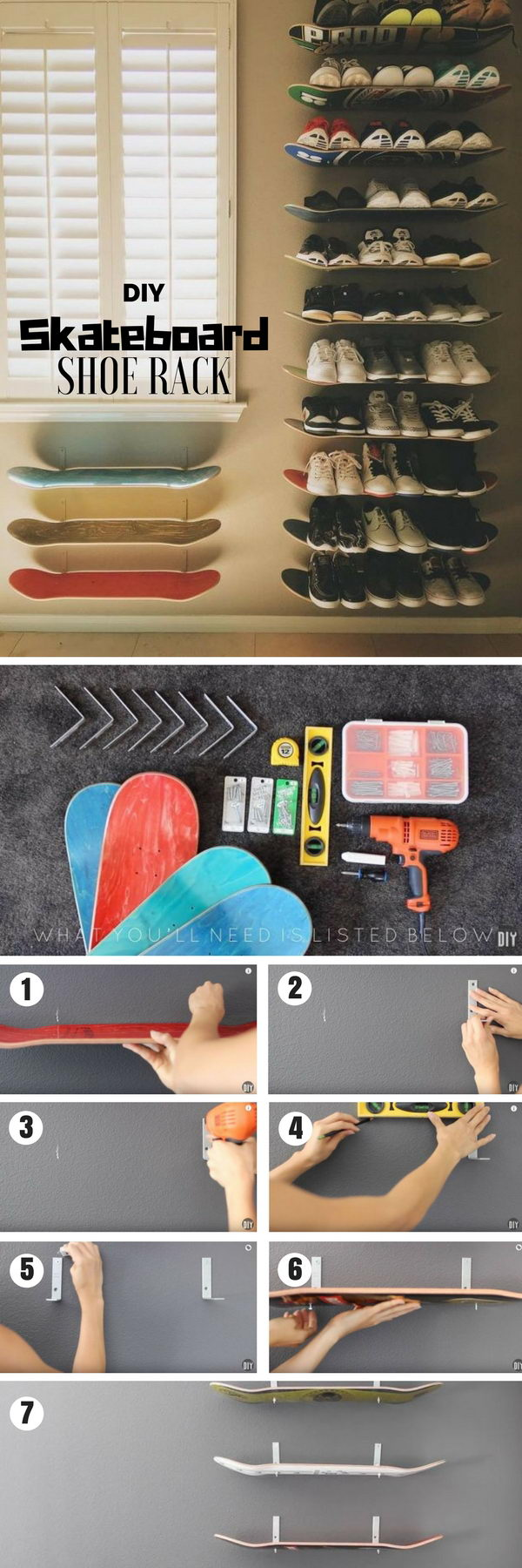 Skateboard Shoe Rack.