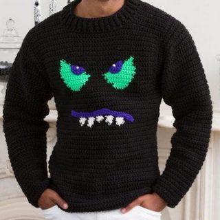 15 Crochet Men Sweater Patterns