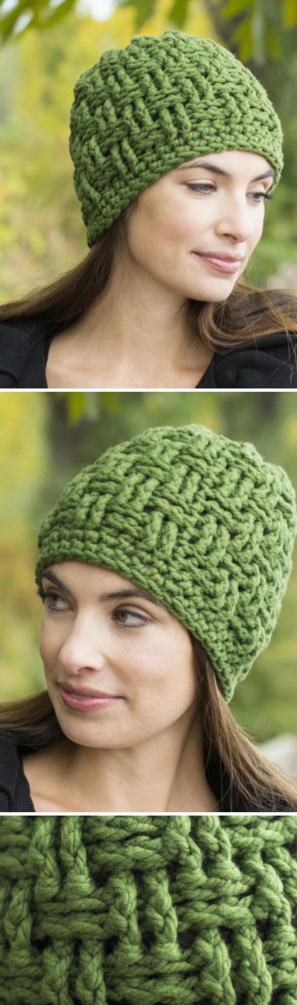 Boliviana Bulky Basketweave Hat.
