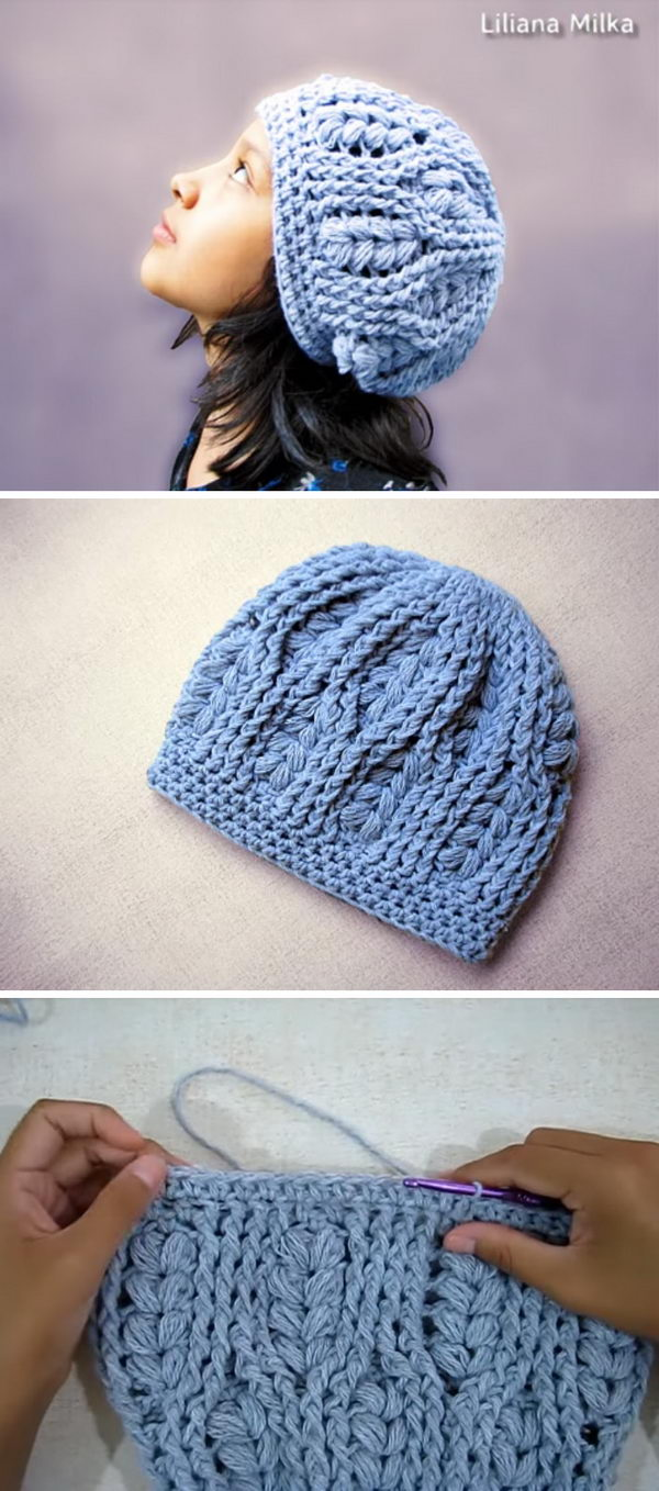 Wheat Stitch Cable Hat.