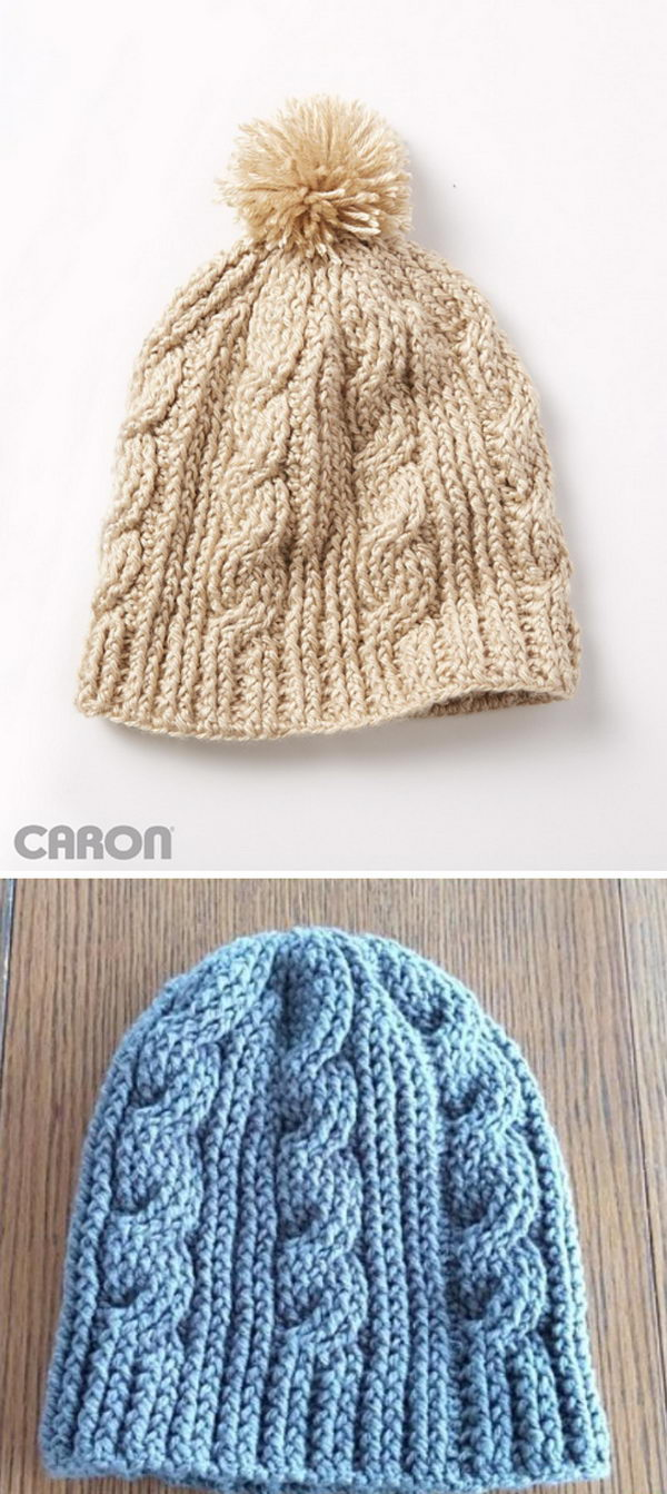 Crochet Cable Twist Hat.