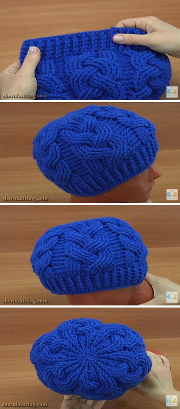 199ace67d84 Crochet Braid Cable Stitch Hat
