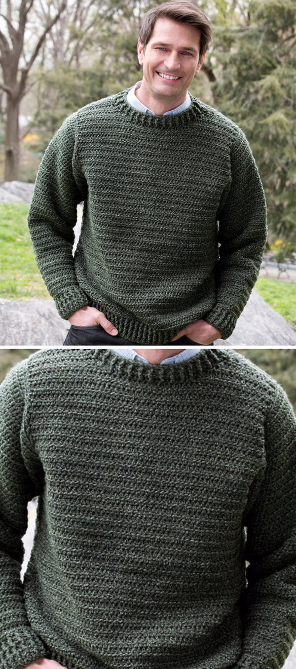 7e1bb865c 15 Crochet Men Sweater Patterns 2018