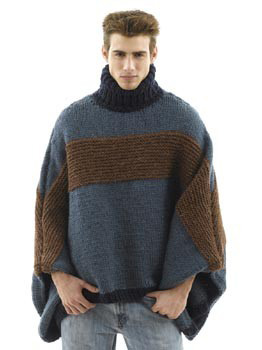 Crochet Man Oversized Poncho.