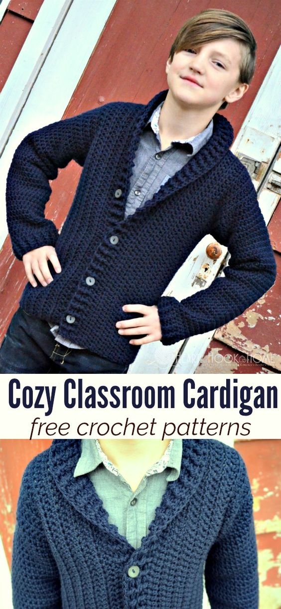 15 Crochet Men Sweater Patterns 2017