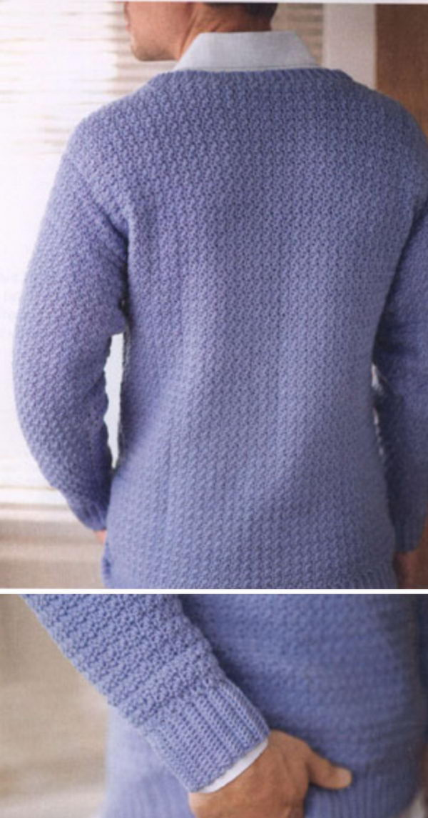 Men's V-Neck Sweater.