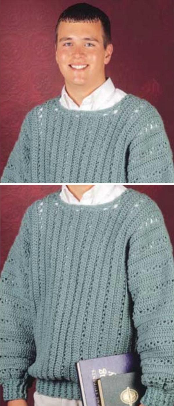 V-Stitch Pullover.