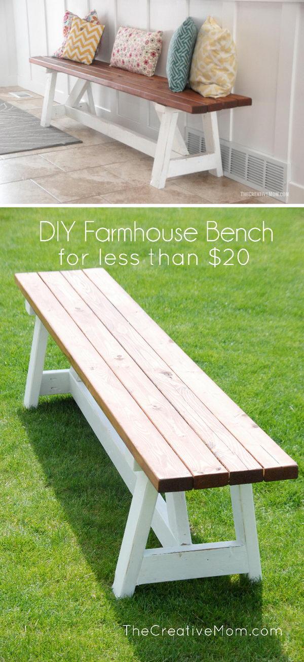 The Farmhouse Bench.