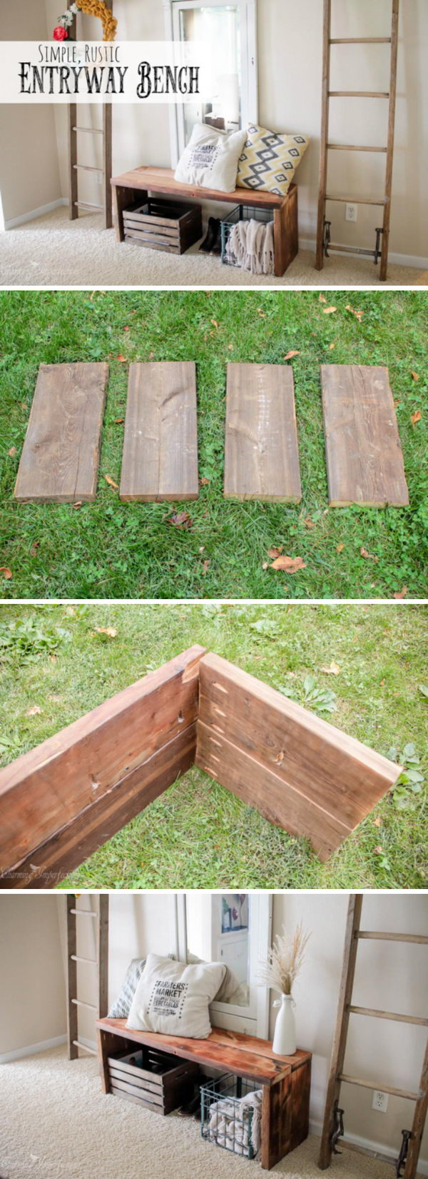 Amazingly Simple DIY Bench.