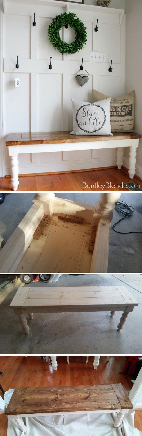 DIY Farmhouse Bench.