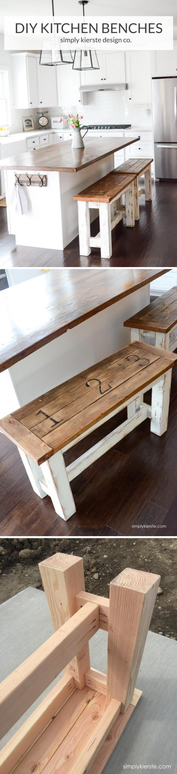 DIY Kitchen Benches.