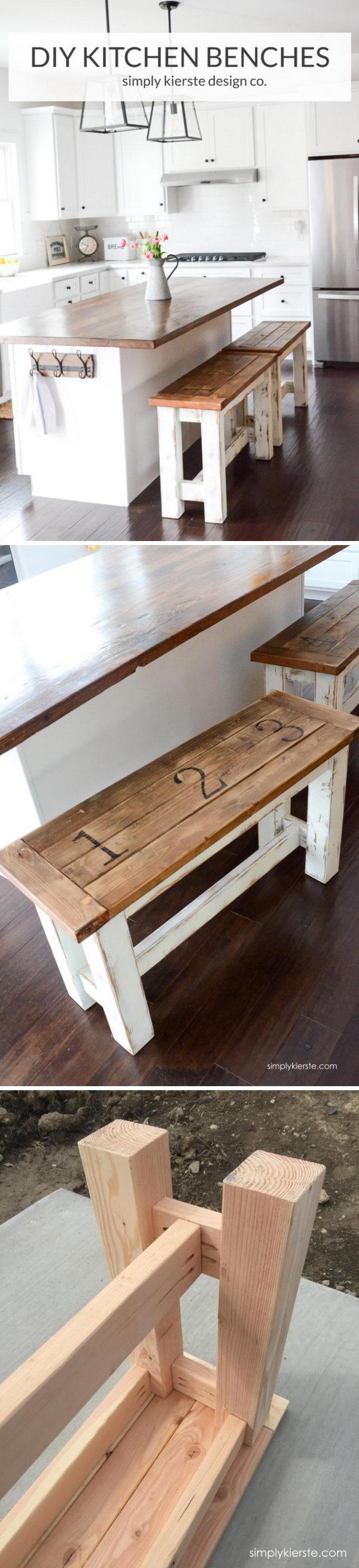 DIY Kitchen Benches.