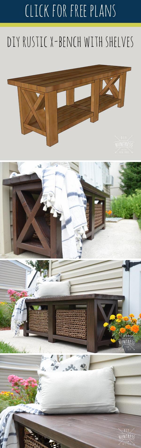 DIY Rustic Bench.