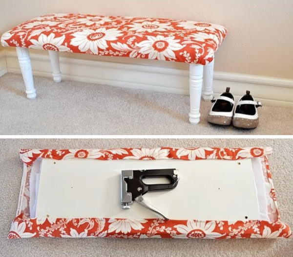 Inexpensive Fabric Bench.