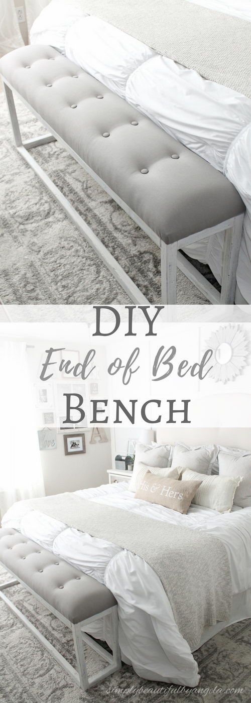 DIY Simple End of Bed Bench.
