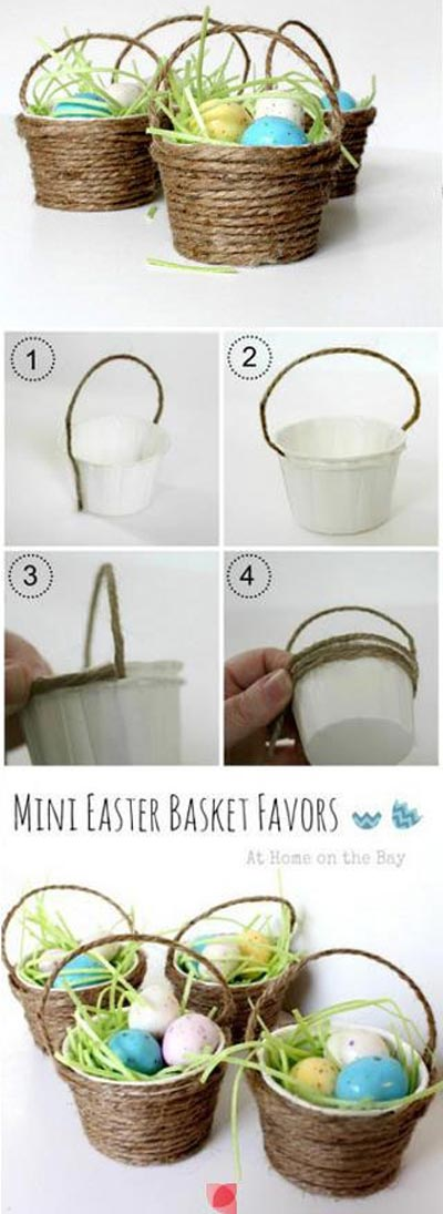 Mini Easter Basket Crafts.